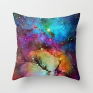 Throw Pillow featuring Floral Nebula by Starstuff