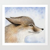 Swift Fox Art Print