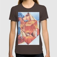 Virgin Mary  Womens Fitted Tee Brown SMALL