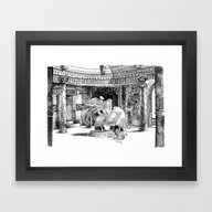 Le Ménage Au Temple / S… Framed Art Print