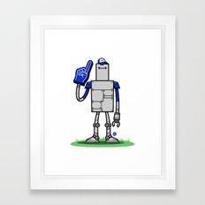 Super Fan Bot Framed Art Print