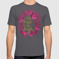 The Future Is Bright –… Mens Fitted Tee Asphalt SMALL