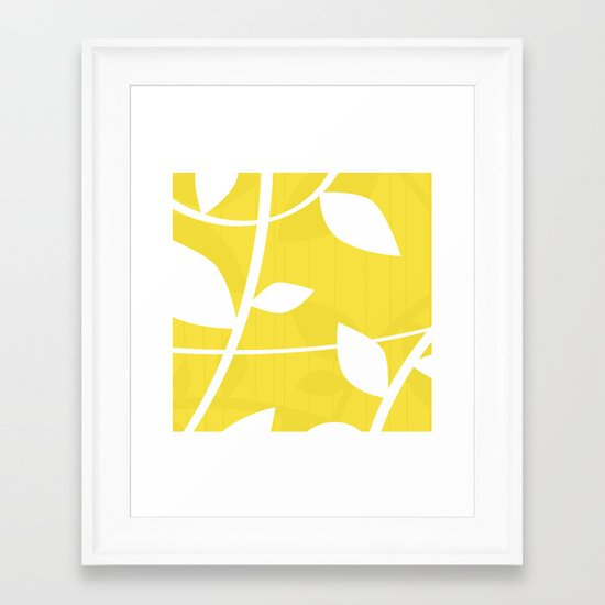 Vine in Yellow by Friztin Framed Art Print