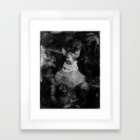 Royal sphynx decay Framed Art Print