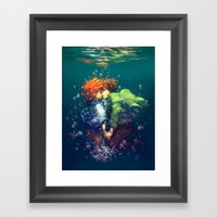 Hold Your Breath Framed Art Print