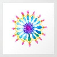 Mermaid Flower Art Print