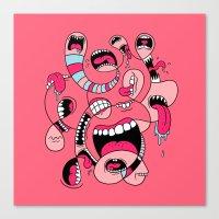 Big Mouths Canvas Print