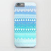 Triangle Gradient Aqua Mix iPhone 6 Slim Case