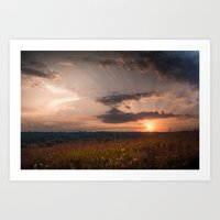 In The Middle Of The Sum… Art Print