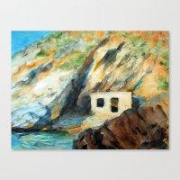 EYGENIA LOGVYNOVSKA, Sea house Canvas Print
