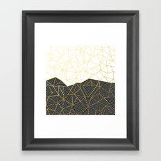 Ab Half and Half White Gold Framed Art Print