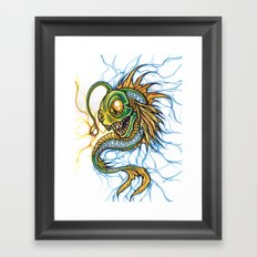 Angler Illustration Framed Art Print