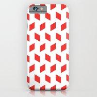 rhombus bomb in poppy red iPhone 6 Slim Case