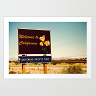 Art Print featuring Welcome To CA by Phil Provencio