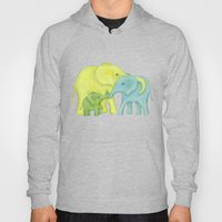 Elephant Family of Three Hoody