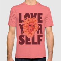 Love Yourself Mens Fitted Tee Pomegranate SMALL