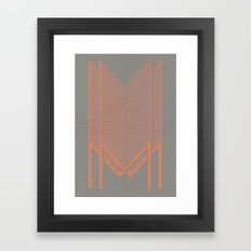 Experimental Typography Framed Art Print