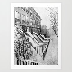 Brooklyn New York In Sno… Art Print