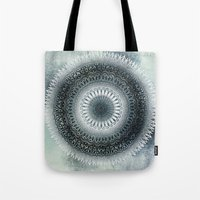 WINTER LEAVES MANDALA Tote Bag