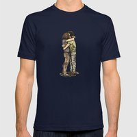N & C Mens Fitted Tee Navy SMALL