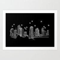 Houston, Texas City Skyline Art Print