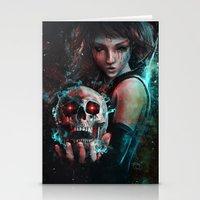 Skull Mage Dark Fantasy … Stationery Cards