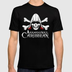 Assassins of the Caribbean Black Mens Fitted Tee SMALL