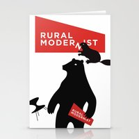 Rural Modernist Beaver Stationery Cards