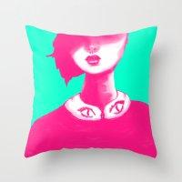 Contemporary Collar Throw Pillow
