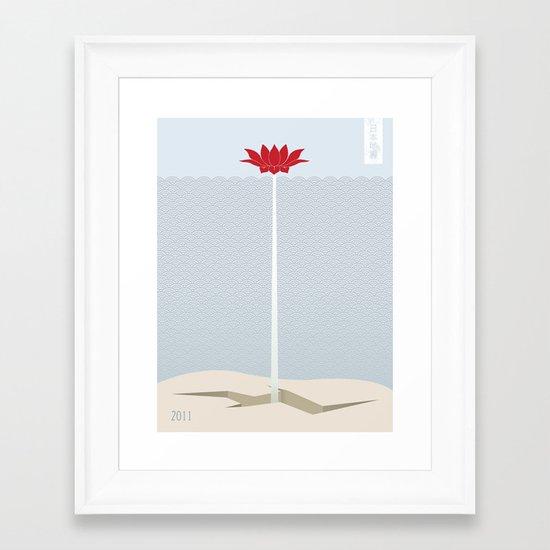 Japan Earthquake 2011 no.1 Framed Art Print