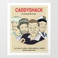Caddyshack Movie Poster Art Print