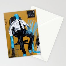 Office worker with one leg on fire. 100x80cm, 2013. Stationery Cards