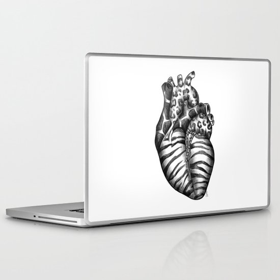 Heart gone wild Laptop & iPad Skin