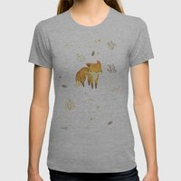 Lonely Winter Fox Womens Fitted Tee Athletic Grey SMALL