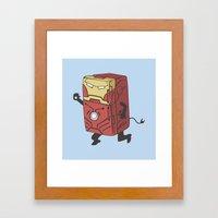 Refrig'r-Iron-Man Framed Art Print