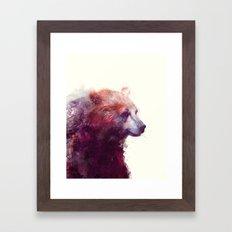 Bear // Calm Framed Art Print