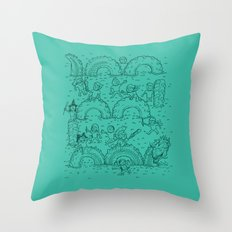 The Tire Dragon Throw Pillow