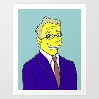 Tim Bailey - Channel Ten Weatherman Art Print