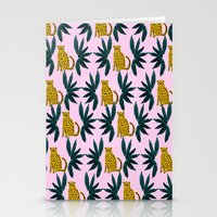 Cheetah And Leaves Stationery Cards