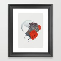 Without Face Framed Art Print