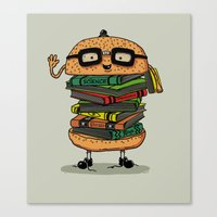 Geek Burger Canvas Print