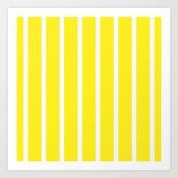 Pillow pattern #striped Art Print