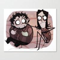 Burton Grumps Canvas Print