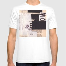 BOOKMARKS SERIES pg 302 SMALL White Mens Fitted Tee