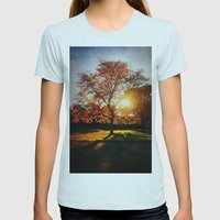 Fall Womens Fitted Tee Light Blue SMALL
