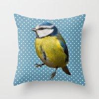 Bird 01 Throw Pillow