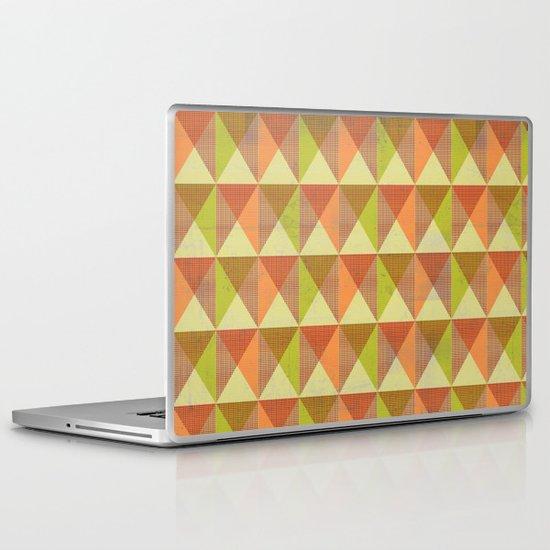 Triangle Diamond Grid Laptop & iPad Skin