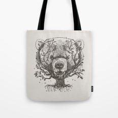 Bear n Tree Tote Bag