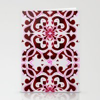 Lotus Floral Tile Patter… Stationery Cards