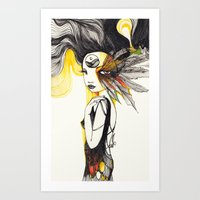 Feather Dream Art Print
